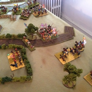 Bourbon's infantry and the Black Bands.  There's Giovanni in person, center right.
