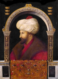 Bellini's portrait of Mehmet II.  One of the best things about writing this period is the quality of contemporary images.