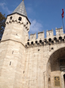 The gate to the Topkapi Palace