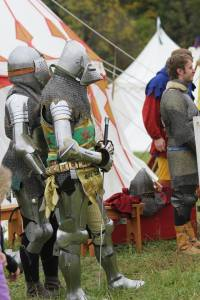 Me at Days of Knights in Kentucky.  At this point I've had ten bouts and I've also served as a referee (still in harness) so tired.  Arms and gauntlets by Jiri Klipac, helmet by Craig Sitch, legs by Mark Vickers, and breastplate by Peter Fuller.