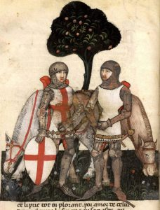 Queste del Saint Graal Tristan de Léonois Milano Italy 1380-1385