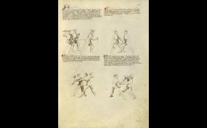 Il Fior di Battaglia, Italian, about 1410.     Ms. Ludwig XV 13